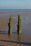 Strand-Szene, nahe Silloth, Cumbria, See-Bezirk Lizenzfreie Stockfotos