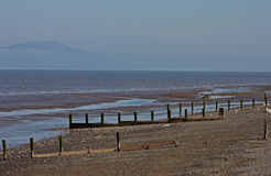 Strand-Szene, nahe Silloth, Cumbria, See-Bezirk Stockfotografie