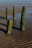 Strand-Szene, nahe Silloth, Cumbria, See-Bezirk Lizenzfreies Stockfoto