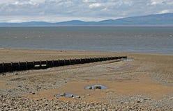 Strand-Szene, nahe Silloth, Cumbria, See-Bezirk Lizenzfreie Stockfotografie