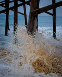 Strand-Szenen-Pier Stockfoto
