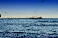 Strand Tanjung Batu in Tarakan Indonesien lizenzfreie stockfotos