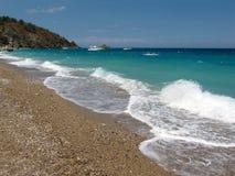 Strand in Tekirova, die Türkei Lizenzfreie Stockfotos