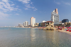 Strand in Tel Aviv, Israel Stockbild