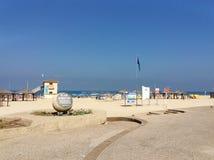 Strand in Tel Aviv, Israel Stockfotos