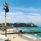 Strand-Telefon Aviv Old Town Israel stockbilder