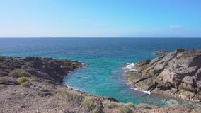 Strand in Teneriffa und in Atlantik stock video footage