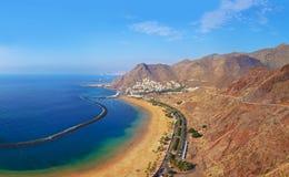 Strand Teresitas i Tenerife - kanariefågelöar Royaltyfri Fotografi