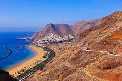 Strand Teresitas i Tenerife - kanariefågelöar Royaltyfri Foto