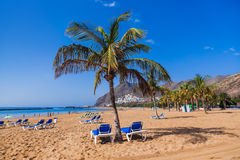 Strand Teresitas in Tenerife - Canarische Eilanden Royalty-vrije Stock Afbeelding