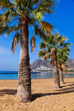 Strand Teresitas in Tenerife - Canarische Eilanden Royalty-vrije Stock Foto