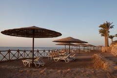 Strand tidigt på morgonen Arkivbild