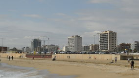 Strand tijdens Koud Seizoen stock video