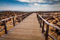 strand till långt Arkivbild