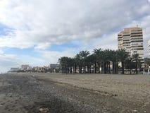 Strand in Torremolinos stockfotos
