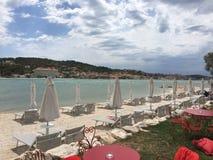 Strand Trogir Kroatien Lizenzfreies Stockbild
