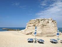 Strand in Tropea Stockfoto