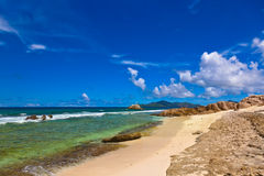 strand tropiska seychelles Royaltyfri Foto