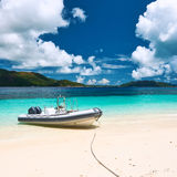 strand tropiska seychelles Royaltyfri Bild