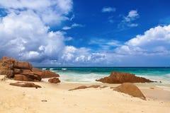 strand tropiska seychelles Royaltyfri Fotografi