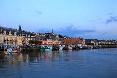 Strand Trouville, Normandie, Frankrike Royaltyfri Bild