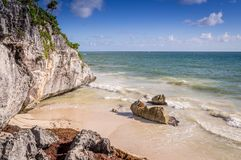 Strand in Tulum, Mexiko stockfotos