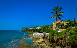 Strand u. Fort Jesus Kenias Mombasa Stockfotografie