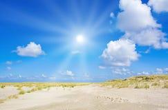 Strand und Dünen Lizenzfreies Stockfoto
