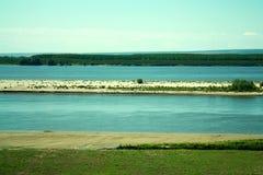 Strand und die Donau Lizenzfreies Stockfoto