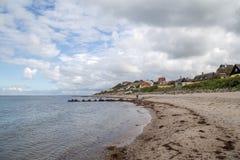 Strand und Dorf Tisvilde Stockbilder
