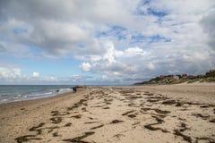 Strand und Dorf Tisvilde Stockfoto
