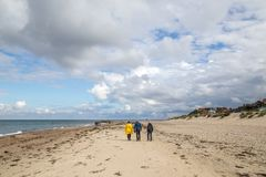 Strand und Dorf Tisvilde Stockfotografie