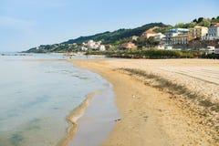 Strand und Farben Stockfoto