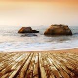 Strand und Felsen Lizenzfreie Stockbilder