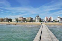 Strand und Hotels Lizenzfreies Stockbild