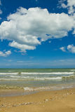 Strand und Meer Lizenzfreies Stockfoto