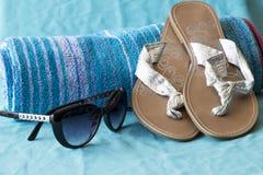 Strand- und Poolzubehör Stockfoto