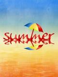 Strand und Sommerhintergrund Lizenzfreies Stockfoto