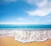 Strand und tropisches Meer stockbild