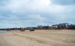 Strand van Ahlbeck op Usedom-Eiland bij Oostzee stock afbeelding