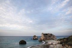 Strand van Aphrodite in Cyprus Stock Afbeelding