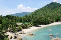 Strand van baai Thongtakian, Koh Samui, Thailand Royalty-vrije Stock Afbeelding