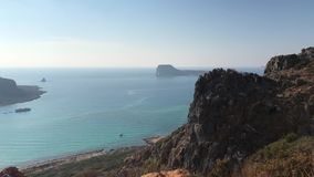 Strand van Balos, het Eiland van Kreta, Griekenland stock videobeelden