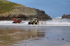Strand van Barro dichtbij Llanes dorp Stock Foto