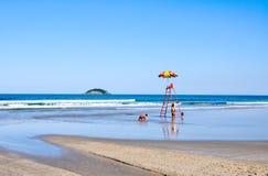 Strand van Bertioga (Brazilië) stock fotografie