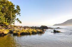 Strand van Bertioga (Brazilië) stock afbeelding