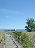 Strand van Binz, Ruegen-eiland, Oostzee, Duitsland Stock Foto's