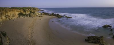 Strand van Conil in Spanje stock afbeelding
