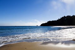 Strand van de Hemel Noordelijke Californië van zandgolven het Blauwe Stock Foto's