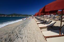 Strand van Di van de Jachthaven Campo - Elba Stock Fotografie